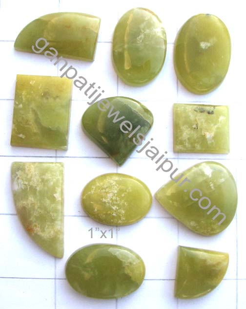 Oval Prehnite Cabochon Oval Shaped Prehnite Stone Semi Precious Gemstone Cabochon  Prehnite Cabochon Stone Loose Stone Cab