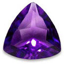 Amethyst cut Gemstone