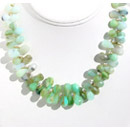 online Chrysoprase silver beaded necklace jewelry india