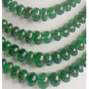 Emerald precious gemstone beads