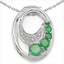 emerald sterling silver  jewelry