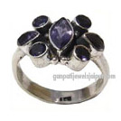 iolite silver rings jewelry