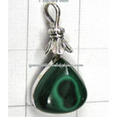 wholesale malachite silver pendants