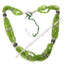 online peridot silver beaded necklaces