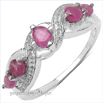 ruby silver rings jewelry