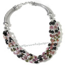 tourmaline beaded silver necklace wholesale